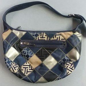 Leather Patchwork Tignanello Shoulder Bag